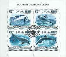Timbres Faune marine Dauphins Maldives 4047/50 o de 2013 lot 15722 - cote : 16 €