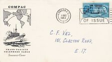 More details for 3/12/1963 gb uk fdc - commonwealth cable - hmts monarch - london ec slogan p/m