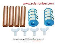 Fits Floatron Solar Ionizer - Heavy Duty Anodes - 4 Anodes/Screws & 2 Baskets