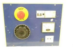 Philips Trenntrafo / Stelltrafo 0-260V / 3A mit Voltmeter - Tischgehäuse (Holz)