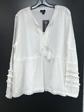 Curations Peasant top plus size New Boho Cotton Blend