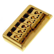 Gold 6 String Electric Guitar Fixed Hardtail Bridge Height Adjustable