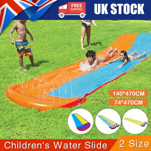 Summer Large Outdoor Water Slide Slip Garden Singe/Double Backyard Kid Toys Game