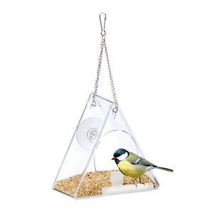 Vogelfutterhaus Acryl Fenster Futterhaus transparent zum Aufhängen Vogelhäuschen