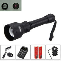 Long Range T50mm Infrared IR 850nm LED Light Night Vision Torch Gun Mount Switch