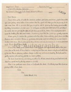 Robert Stroud - The Birdman of Alcatraz - Autographed 1947 Letter (ALS)
