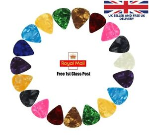 Celluloid Colourful Guitar Picks Plectrums For Acoustic Electric Guitar Bass UK