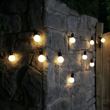 4.5m Outdoor Battery Powered Festoon Lights With 10 Bright LEDs by Festive Warm