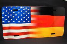 GERMAN  AMERICAN FLAG METAL NOVELTY LICENSE PLATE FOR CARS  Deutschlandfahne