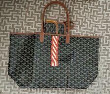 Authentic Goyard St. Louis PM Tote Bag Black/Brown Canvas W/Pouchette & Dust Bag