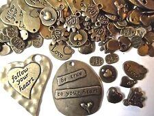 100 Surtidos Bronze Charms amor y el tema de la joyería adornos de corazón colgante