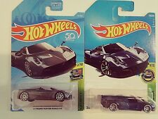 2018,17-Hot Wheels-2 '17 Pagani Huayra Roadster-2 Different Colors-1:64-Boys-3+