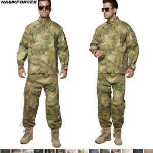 US Army Mens Airsoft Military Tactical Combat Jacket Pants SWAT Camo BDU Uniform