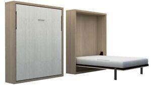 Hidden - Vertical Tilting Wall Bed with Mattress