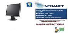 """MONITOR/SCHERMO VARI MARCHE LCD 17""""4:3 Silver/Nero USATO RICONDIZIONATO GARANTIT"""
