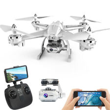 RC Drone Quadcopter With 5MP 1080P HD Camera WIFI 6-Axis 4CH Altitude Hold white