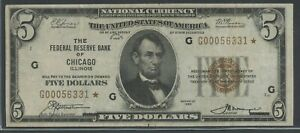FR1850-G $500 1929 FRBN STAR NOTE CHICAGO (XF) ONLY 48 RECORDED HW5649