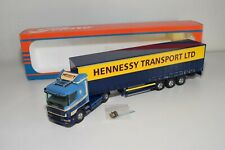 A5 36 1:50 TEKNO SCANIA 124G HENNESSY TRANSPORT LTD TRUCK WITH TRAILER MIB
