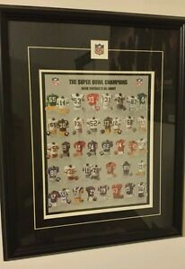 """NFL The Super Bowl  Champions 22"""" x 18"""" commerative double matted framed art"""