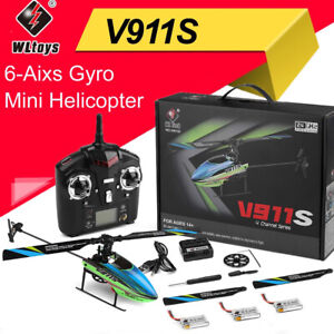 WLtoys V911S 2.4G 4CH 6-Aixs Gyro Single Blade Flybarless RC Mini Helicopter UK