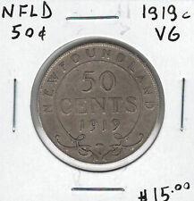 Canada Newfoundland NFLD 1919c 50 Cents VG Lot#7