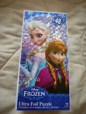 "Disney Frozen ELSA AND ANNA Ultra Foil Jigsaw Puzzle 48 pieces 15"" x 11.2"" New"