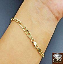 8c42ddd00572c4 Real 14k Figaro/Cuban Link Bracelet 8