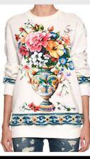 Women's Handmade Cream Floral Vase Sweatshirt XL/1X only
