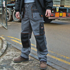 X-Over Heavyweight Trousers Work Wear Pants Cargo Combats Knee Pad Pockets