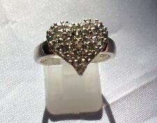 Sterling Silver - HSN TECHNIBOND DIAMOND Heart 4g Ring Size 8