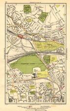 KENSAL. Green/Rise; Acton,Harlesden,Shepherd's Bush,Brondesbury Park 1923 map
