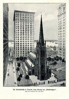 Trinitatiskirche in New York Kunstdruck 1906 von H. M. Pettit Trinity Church USA