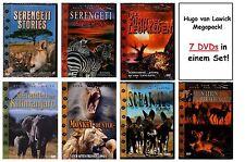 7 DVDs | Tierdoku Megapack! | 7 Filme von Hugo van Lawick | Afrika Serengeti Neu
