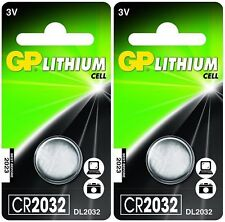 2x GP 2032 3V Lithium Coin Cell Batteries CR2032 DL2032 Battery (2 Batteries)