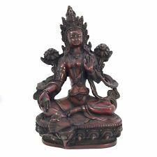GREEN TARA Tibetan Statue Handmade from Nepal Resin 8 Inch