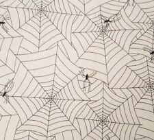 Spooky Eve BTY Pamela Bishop Quilting Treasure Halloween Spider Web Orange