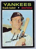 """1971  FRANK BAKER - Topps Baseball """"ROOKIE"""" Card # 213 - NEW YORK YANKEES"""