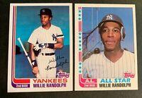 1982 Topps Baseball #548 and  #569 Willie Randolph - Yankees