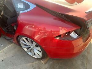 Tesla Model S Left Quarter Panel Red PPMR