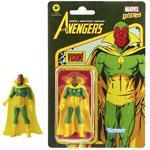 "Marvel Legends Retro Recollect Vision 3.75"" Avengers Action Figure"