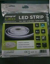 Integral Led Strip Lights 12V 5M Tape Cool Daylight IP67 620 Lm 10mm Flexible
