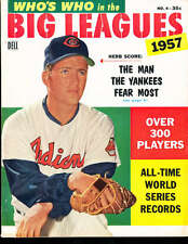 1957 Who's Who in the Big League Herb Score Indians em