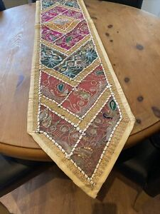Hand Made Indian Beaded Table Runner