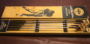 Rare Vintage Victor Comptometer Golf Woods Club Set True Temper In Box