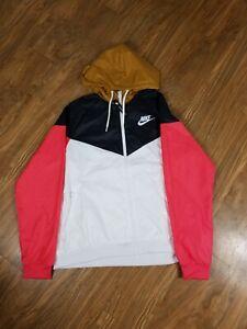 Nike Sportswear Windrunner Jacket Women's Sz- XL CN6910-850 Black/White/Pink NWT
