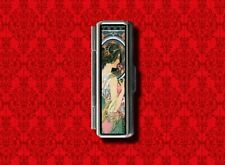 ART NOUVEAU MUCHA PIN UP GIRL GUM COTTON SWAB MAKEUP LIPSTICK CASE HOLDER