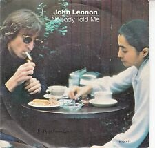 "45 T SP JOHN LENNON ""NOBODY TOLD ME""  (MADE IN BELGIUM)"