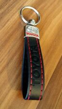 TOYOTA TRD Keyring RAV4 AVENSIS AURIS BLACK ECO Leather Key ring  Key Chain