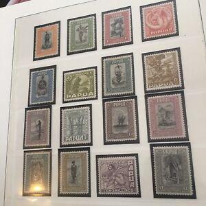 Papua 1932 Sc #94-109 SG 130-149 Pictorial Complete Set VF MLH OG