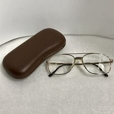 d3d3ff06e2c9 Stetson Eye RX Glasses Mens Gold Frames Case Vintage Zyloware 057 Brown Case